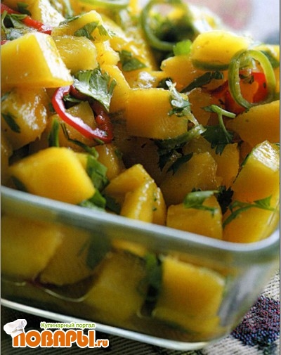 Рецепт Салат-соус из манго