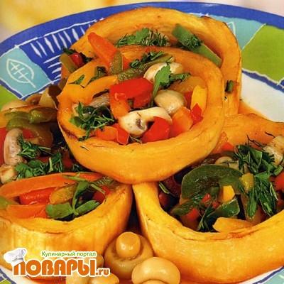 Рецепт Кабачки с овощной смесью