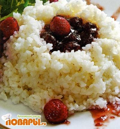 Рецепт Рис с земляничным пюре