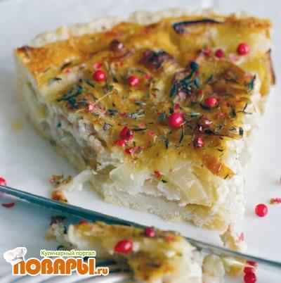 Рецепт Пирог с креветками и куркумой