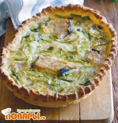 Рецепт Пирог с тунцом и салатом радиччо