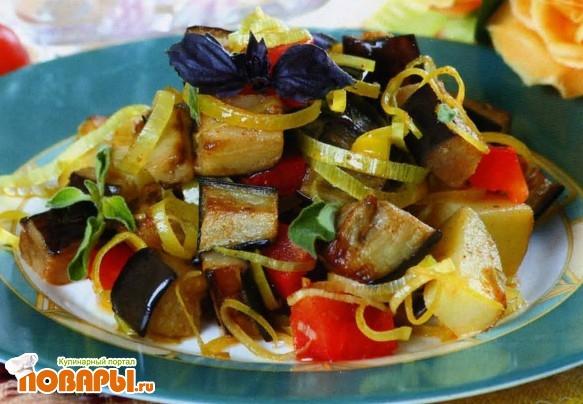 Рецепт Грузинский салат из баклажанов и картофеля