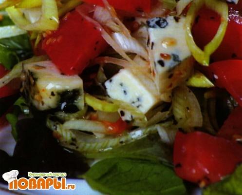 Рецепт Салат с томатами по-провански