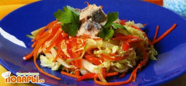 Рецепт Салат из горбуши по-армянски
