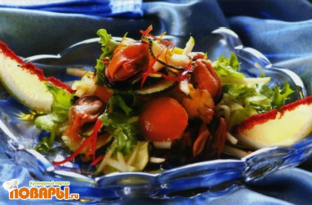 Рецепт Тосканский салат с мидиями