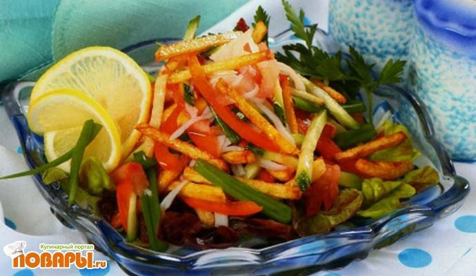 Рецепт Крабовый салат по-московски