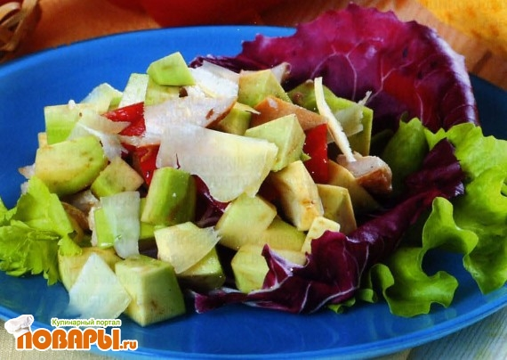 Рецепт Салат из куриного филе и авокадо по-южноамерикански
