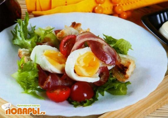 Рецепт Британский салат с беконом
