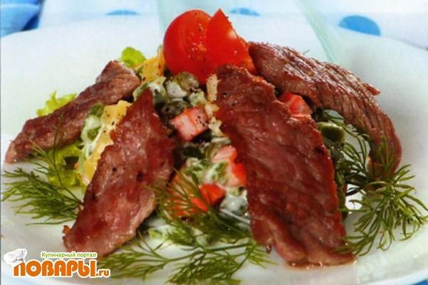 Рецепт Венский салат со спаржей