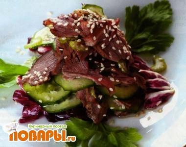 Рецепт Огуречный салат по-вьетнамски