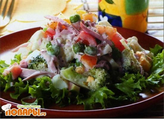 Рецепт Кипрский салат с брокколи