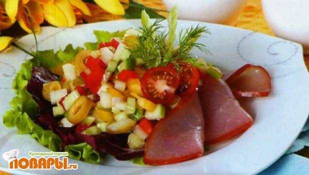Рецепт Австралийский салат с ветчиной
