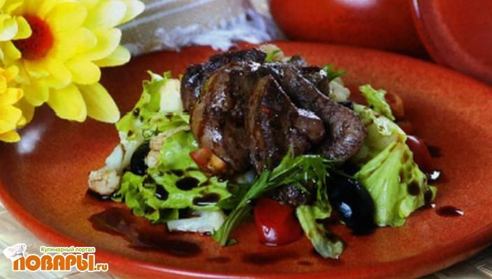 Рецепт Салат из куриной печени по-уральски