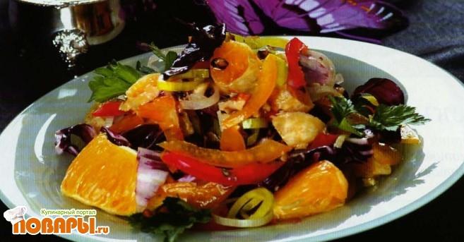 Рецепт Салат с апельсином по-кубински