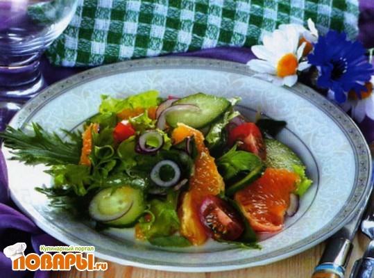 Рецепт Гаитянский салат с апельсинами