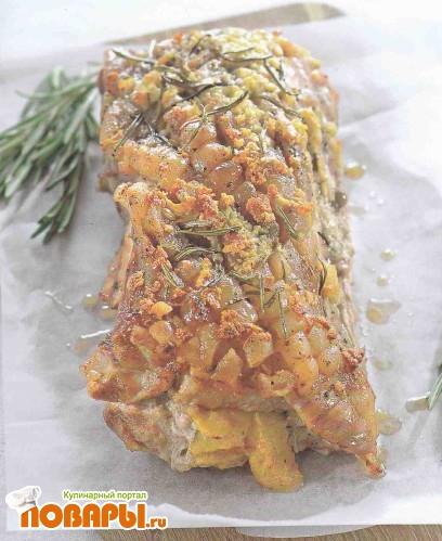 Рецепт Свинина, фаршированная персиковым пюре