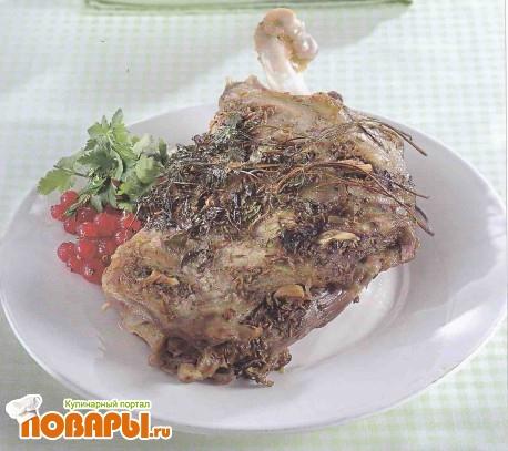 Рецепт Баранина с желе из красной смородины