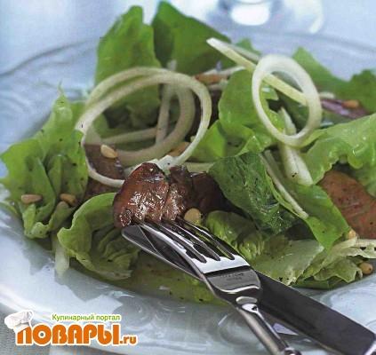 Рецепт Салат с куриной печенкой