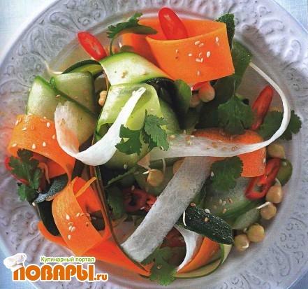 Рецепт Салат из овощной «лапши»