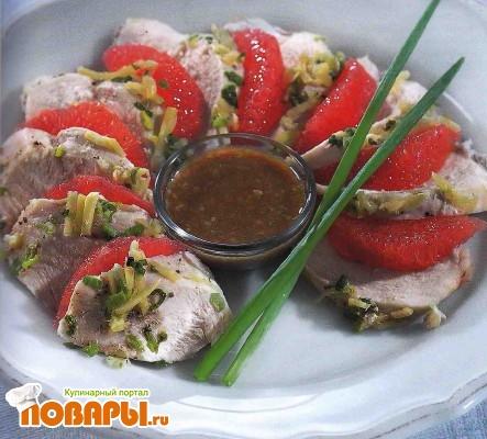 Рецепт Куриное филе с кунжутным соусом