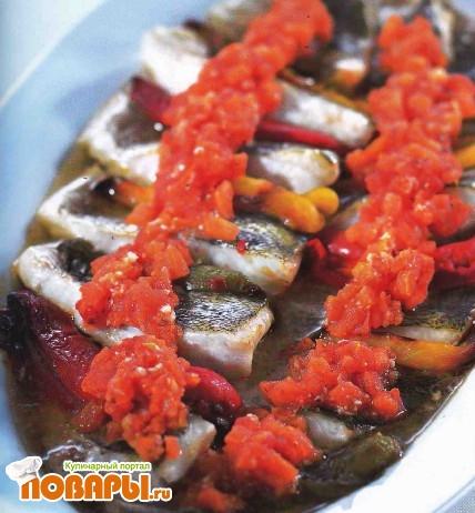 Рецепт Филе судака со сладким перцем