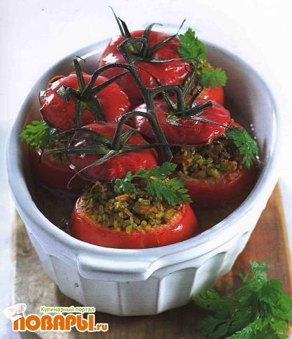 Рецепт Помидоры, фаршированные булгуром и зеленью