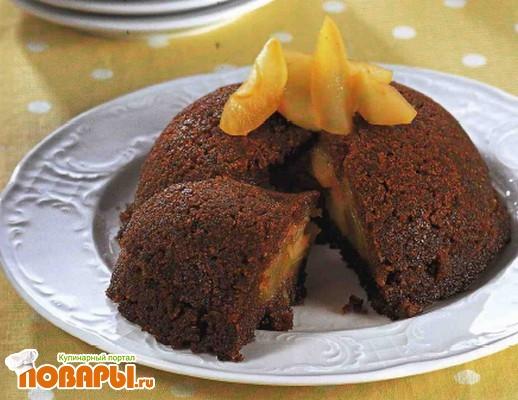 Рецепт Яблочный пудинг из черного хлеба