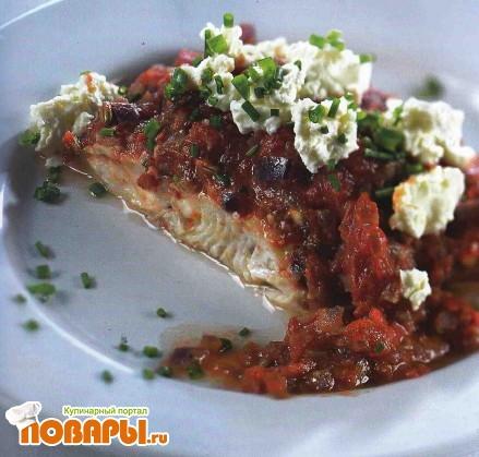 Рецепт Судак, запеченный в томатном соусе