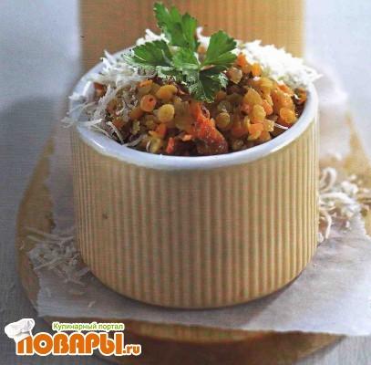 Рецепт Чечевица с вялеными помидорами