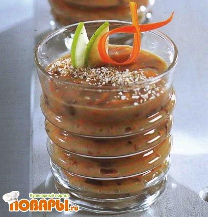 Рецепт Овощной суп с овсяными хлопьями