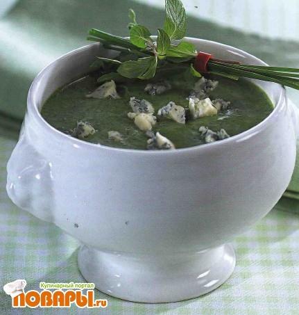 Рецепт Суп-пюре из шпината с сыром