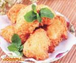Крокеты из цветной капусты с пармезаном