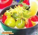 Брюссельская капуста, тушенная в сливках с лимонной цедрой