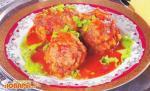 Крокеты из рыбных консервов в томатно-овощном соусе