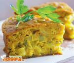 Торт с рубленой рыбой и карри