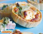 Пирожки с семгой и сыром