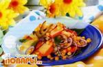 Салат овощной с горохом по-русски