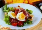 Британский салат с беконом