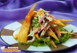 Салат с хрустящим лавашем по-армянски
