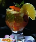 Грейпфрутовый салат с личи по-китайски
