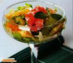 Фруктовый салат с креветками по-японски