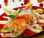 Салат с цикорием и фруктами по-чилийски