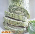 Сырный рулет с сельдереем