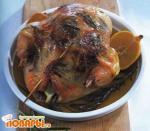 Запеченная курица с лимоном и травами
