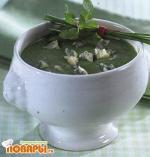 Суп-пюре из шпината с сыром