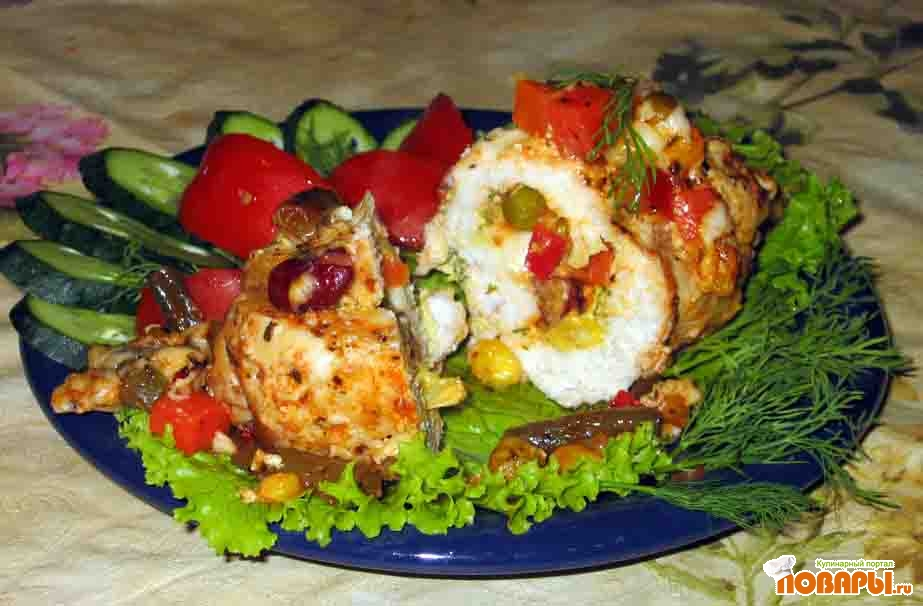 Рецепт Куриные рулетики с овощами