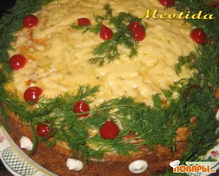 """Рецепт Блинный пирог """"Широкая масленица"""""""