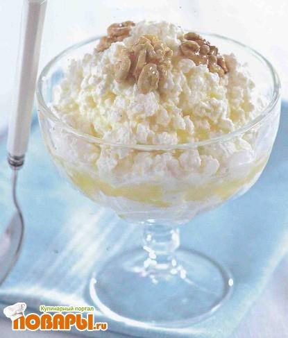 Рецепт Творог с орехами и медом