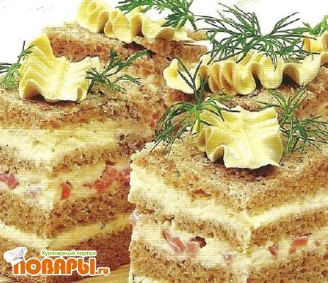 Рецепт Полосатые бутерброды