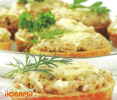 Рецепт Рыбные тартинки
